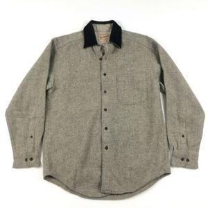 Woolrich Gray Flannel Button Up Shirt